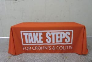 Crohn's Disease Table Covering Banner
